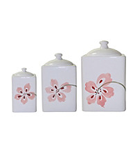 Corelle® Square Pretty Pink Set of 3 Canisters