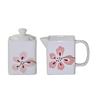 Corelle® Square Pretty Pink Sugar & Creamer Set