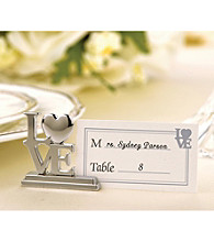 Kate Aspen 4-pc. LOVE Place Card Holder/Photo Holder - Set of 3