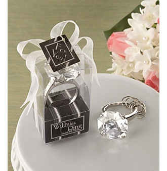 "Kate Aspen ""With This Ring"" Engagement Ring Keychain - Set of 12"