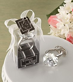 "Kate Aspen Set of 12 ""With This Ring"" Engagement Ring Keychain"