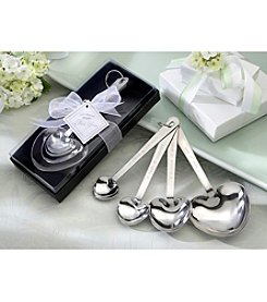Kate Aspen Set of 12 Love Beyond Measure 4-pc. Heart-Shaped Measuring Spoons in Gift Box