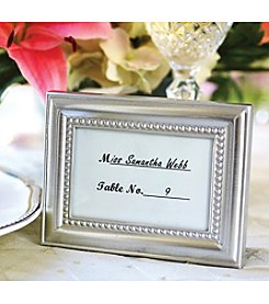 Kate Aspen Set of 18 Beautifully Beaded Silver Photo Frame/Wedding Place Card Holder