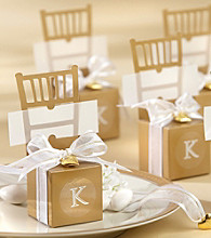 Kate Aspen 12-pc. Miniature Gold Chair Favor Box