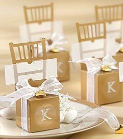 Kate Aspen 12-pc. Miniature Gold Chair Favor Box