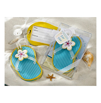 Kate Aspen Set of 12 Flip-Flop Luggage Tag with Gift Box