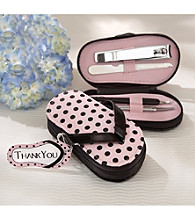 Kate Aspen Polka Dot Flip Flop 5-pc. Pedicure Set - Set of 8