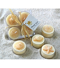 Kate Aspen Seaside Tea Light Candle Set with Gift Box - Set of 12