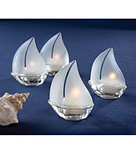 Kate Aspen Set Sail 4-pc. Sailboat Tea Light Holder - Set of 3