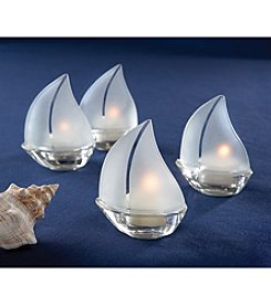 Kate Aspen Set of 12 Set Sail Sailboat Tea Light Holder