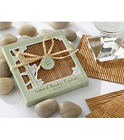 Kate Aspen Set of 18 Natural Bamboo Coaster Favors