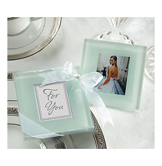 Kate Aspen Set of 12 Forever Photo Frosted Glass Coasters