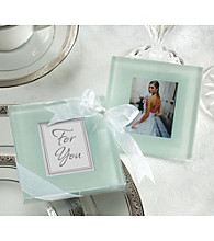 Kate Aspen Forever Photo Frosted Glass Coasters - Set of 12