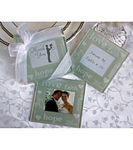 Kate Aspen Good Wishes Pearlized Photo Coasters - Set of 12