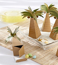 Kate Aspen Palm Tree Favor Box with Multi-dimensional Detail - Set of 24
