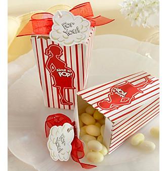 "Kate Aspen Set of 24 ""About to Pop!"" Popcorn Favor Box"