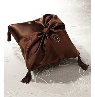 Lillian Rose® Brown Satin Ring Pillow