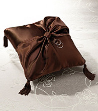 Lillian Rose® Brown Satin Ring Pillow