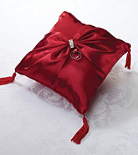 Lillian Rose® Red Faux-diamond Ring Pillow