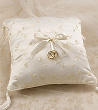 Lillian Rose® Elegant Ivory Satin Ring Pillow