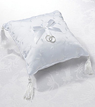 Lillian Rose® Elegant White Satin Ring Pillow