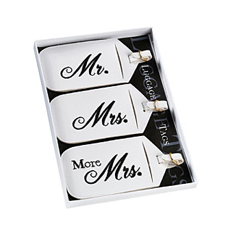 Lillian Rose® 3-pc. Mr. & Mrs. Luggage Tag Set