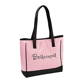 "Lillian Rose® Pink Satin ""Bridesmaid"" Tote"
