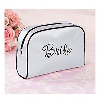 "Lillian Rose® White Satin ""Bride"" Medium Travel Bag"