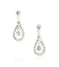 BT-Jeweled Crystal Teardrop Earrings