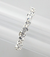 Givenchy® Clear Stone and Silvertone Floral Bracelet