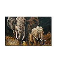 Elephants - Hand Painted Canvas-Wrapped Art