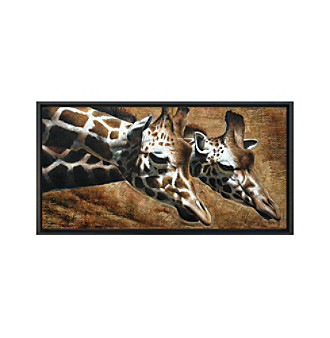 Giraffes - Hand Painted Framed Art