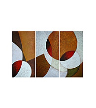Encircled - 3-pc. Hand Painted Canvas-Wrapped Art Set
