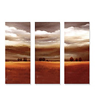 Trees in the Distance - 3-pc. Hand Painted Canvas-Wrapped Art Set