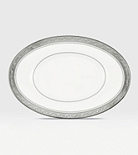 Noritake Crestwood Platinum Covered Butter/Relish Tray