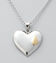 Sterling Silver Memorial Heart Pendant