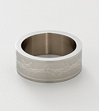 Men's Stainless Steel Barb Wire Ring