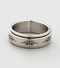 Men's Stainless Steel Tribal Spinner Ring