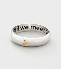 Sterling Silver Memorial Sentiment Ring