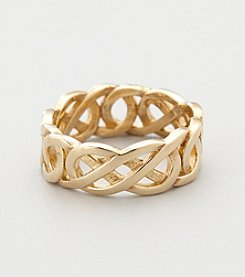 18K Gold-Over-Sterling Silver Celtic Knot Wedding Band