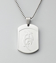 Stainless Steel Tribal Dog Tag Pendant