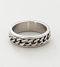 Men's Stainless Steel Curb Chain Spinner Band