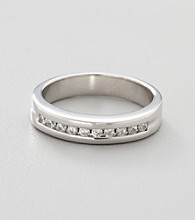 Sterling Silver and Cubic Zirconia Wedding Band