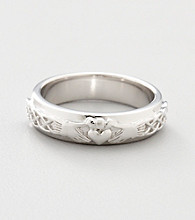 Sterling Silver Claddagh Wedding Band