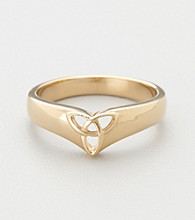 18K-Gold-Over-Sterling Silver Celtic Trinity Knot Ring