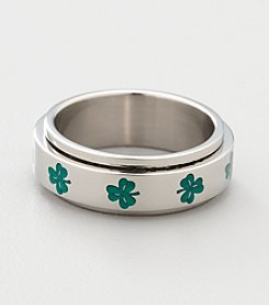 Men's Stainless Steel Clover Spinner Band