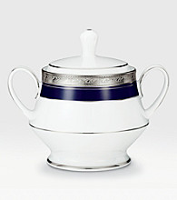 Noritake Crestwood Cobalt Platinum Covered Sugar Bowl