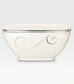 Noritake Platinum Wave Medium Square Bowl
