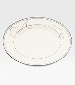 Noritake Platinum Wave Butter and Relish Tray