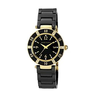 Anne Klein® Black Ceramic Bracelet Watch